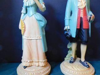 George Washington Era Statues  Pair