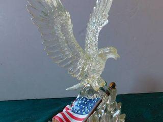 Acrylic Eagle   Flag