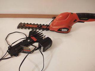 Black   Decker rechargeable mini hedge trimmer