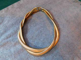 Goldtone Choker Style Necklace