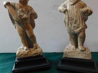 Ceramic Figurines  Pair