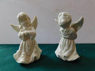 Bisque Cerub Angels  Pair