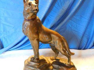 Bronze Color Dog Figurine