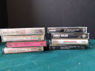 Popular Singer Cassette Tapes  8 ea