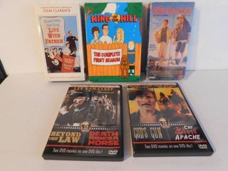 Two VHS   Two DVD Movies