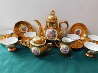 Gold Porcelain Tea Set