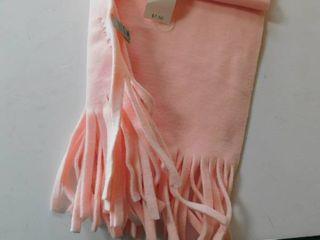 Pink Fleece Scarf