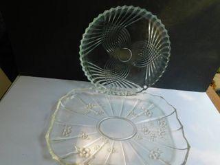 Glass Serving Platters  2 each