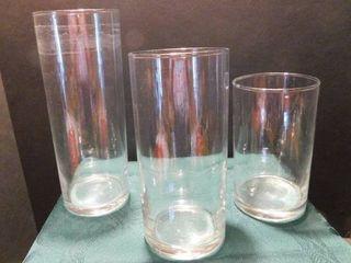 Graduating Vases  3 ea