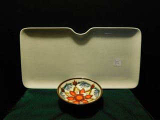 Serving Tray   Hand Painted Bowl
