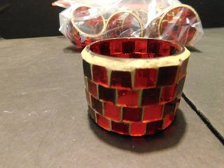 Stained Glass Napkin Rings  8 ea