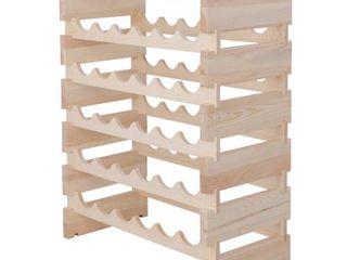 Zeny Wine Bottle Wooden Rack for 18 Bottles