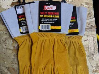Kinco  0149 Deerskin TIG Welding Gloves  3 pairs  Medium