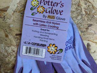 Women s Seamless Knit Nylon Potter s Gloves  12 Pairs
