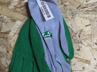 KINCO GlOVES GREY   GREEN  12 pairs