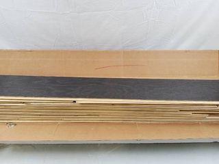 Bruce   American Originals Flint Oak 3 8 in  T x 5 in  W x Varying l Click lock Engineered Hardwood Flooring  22 sq ft