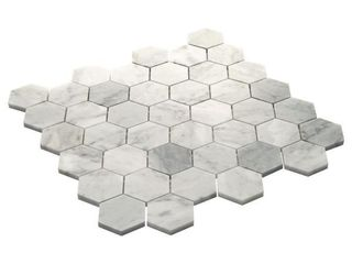 Daltile   Restore Dove Mixed Finish 11 in  x 12 in  x 8mm Marble Mosaic Floor and Wall Tile  0 87 sq  ft  piece