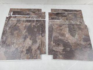 FloorPops   Brownstone 12 in  W x 12 in  l Peel and Stick Floor Vinyl Tiles  10 Tiles  10 sq  ft  case