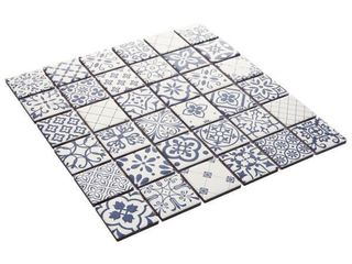 luxeCraft 12 in  x 12 in  x 6 35mm Riviera Glazed Ceramic Mosaic Floor and Wall Tile  1 sq  ft    piece