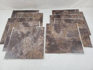 FloorPops   Brownstone 12 in  W x 12 in  l Peel and Stick Floor Vinyl Tiles  10 Tiles  10 sq  ft  case