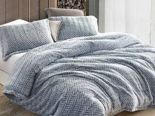 Cozy Peaks   Coma Inducer Oversized Comforter   Chevron Frosted Navy
