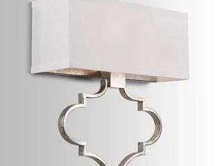 Silver Orchid Grasse 2 light Antique Silver Wall Sconce Retail 81 99