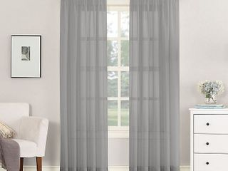 No 918Ar Emily Sheer Voile Rod Pocket Window Curtain Panel