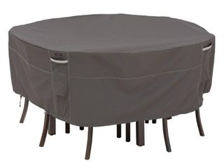 Classic Accessories Ravenna Water Resistant 70 Inch Round Patio Table   Chair Set Cover