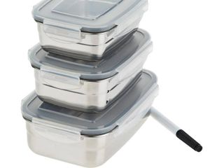 Wolfgang Puck 3 piece Stainless Steel Food Storage Containers Model 697 500