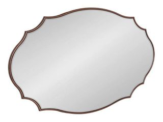 Kate and laurel leanna Scalloped Oval Wall Mirror   24x36 Retail 181 49
