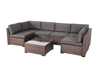 Incomplete Melange Rumber Rattan Wicker Outdoor Sectional Corner Sofa Seat  does not include entire sofa pictured