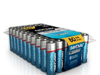 Rayovac High Energy Alkaline  AA Batteries  60 Count