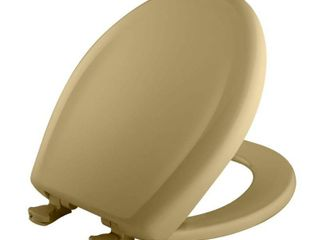 Bemis 200SlOWT 031 Round Closed Front Toilet Seat  Harvest Gold