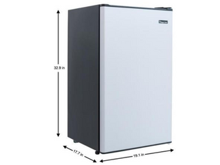 Magic Chef 3 3 cu  ft  Mini Fridge in Stainless look