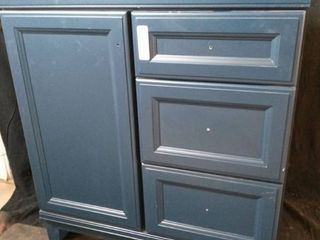 22 in w x 30 l   bathroom vanity 2 drayer 1 cabinet  no top  blue