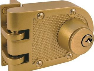 Prime line Products U 9972 Deadlock  Jimmy Resistant  Double Cylinder  Brass Finish