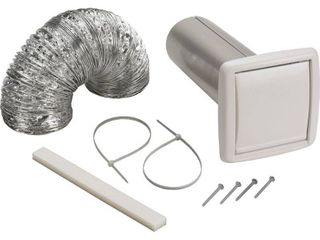 NuTone WVK2A Flexible Wall Ducting Kit for Ventilation Fans  4 Inch