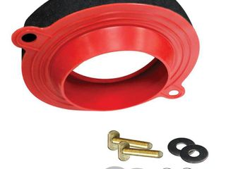 Korky 6000BP Toilet Wax Free 3 Rubber Seal Kit with Hardware  Red