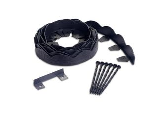 ProFlex 20 ft  Black Scalloped Woodgrain Plastic No Dig Edging Kit