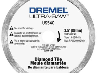 Dremel US540 01 Diamond Tile Cutting Wheel for Tile and Masonry Materials