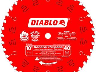 Freud D1040X Diablo 10 Inch 40 Tooth ATB General Purpose Saw Blade with 5 8 Inch Arbor and PermaShield Coating