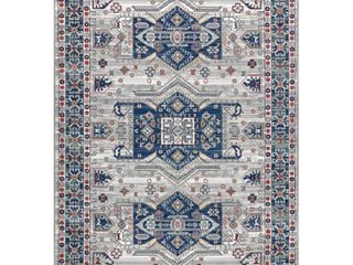 JONATHAN Y Modern Persian Vintage Moroccan light Grey Blue 8 ft  x 10 ft  Area Rug