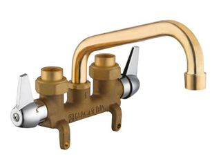 Glacier Bay 2 Handle laundry Faucet in Rough Brass  Rough Brass Finish