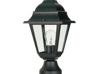 Nuvo 60 548 Textured Post lantern with Clear Glass  Textured Black