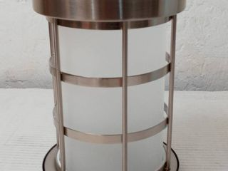 brushed nickel with frosted glass mini pendant shade