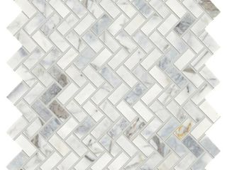 Daltile Stone Decor Fog 11 in  x 12 in  x 10 mm Marble Mosaic Floor and Wall Tile  0 83 sq  ft    piece