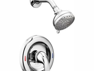 Moen 82604 Chrome Adler Posi Temp Fixed Shower Set