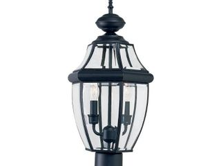 Aurora 2 light Outdoor Post lantern   Black