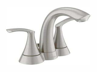 Moen WS84550 Spot Resist Brushed Nickel Darcy 1 2 GPM Double Handle Bathroom Faucet
