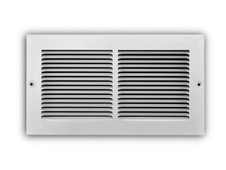 Everbilt 12 in  x 6 in  1 Way Steel Baseboard Return Air Grille in White  Powder Coat White